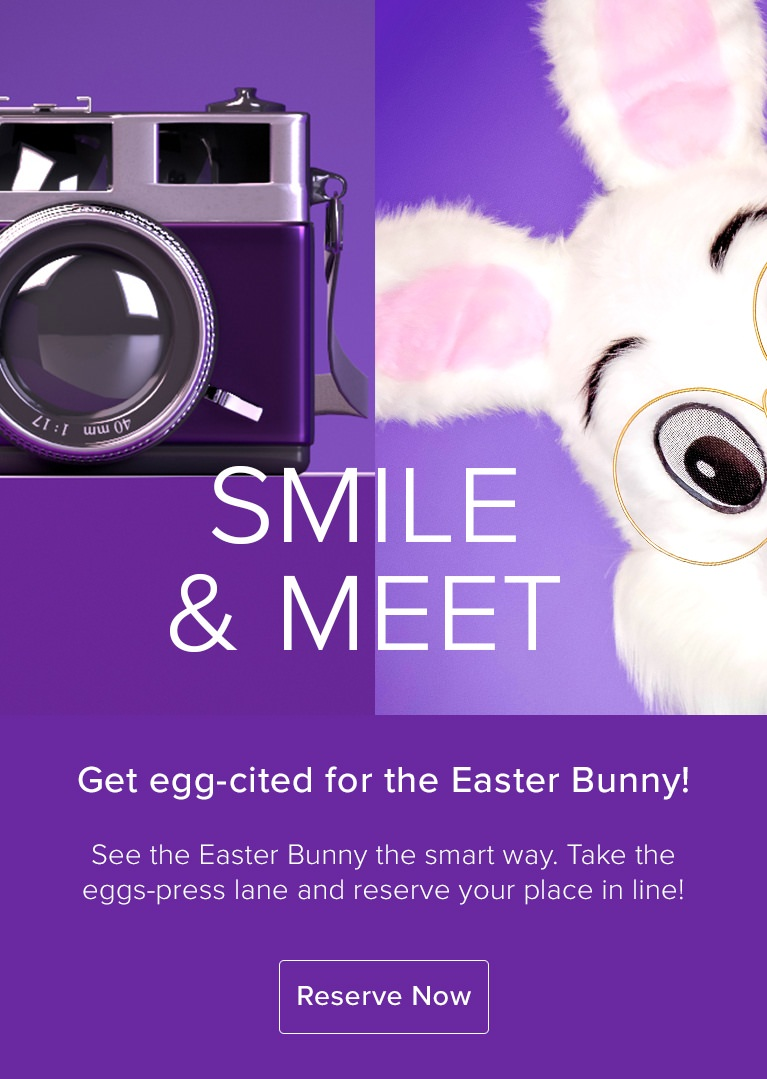 Take Easter photos with the Easter bunny